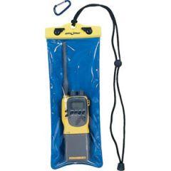 "VHF Radio Case Waterproof Clear/Blue 5"" x 12"" x 9"""
