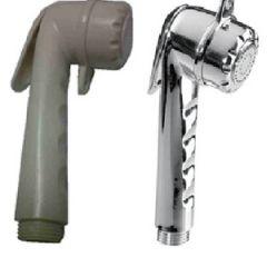 """Shower Head abs long 1/2"""" thread white w/o hose"""