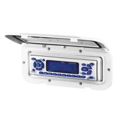 Stereo Weather Housing, White 235w x 110h x 14d (mm)