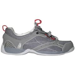 Sportive Deck Shoe w/Non Slip Sole & Quick Dry Footbed Grey Size 38
