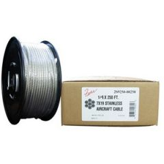 Aircraft Cable 1/4 7 x 19 Stainless Steel 250 ft roll