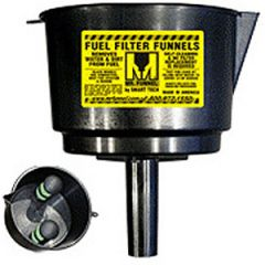 Fuel Funnel w/Filter Conductive Medium Black 5 GPM