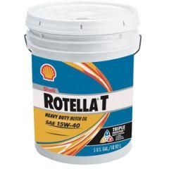 Rotella Oil, T4 SAE 15w-40 5 Gal Pail