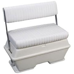 "Cooler/Livewell Seat White 37"" x 18 1/2"" x 34 1/2"" 72 qt"