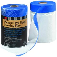 "Pre-Taped Mask Film w/Masking Tape 48"" x 25 Yards"