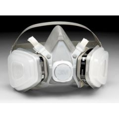 Dual Cartridge Mask Respirator Assembly Disposable Medium 07192