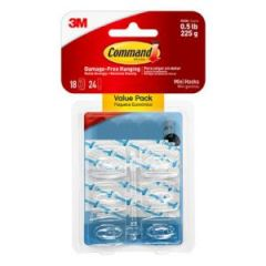 Clear Mini Designer Hooks 18 per Pack