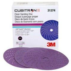 """Cubitron II Clean Sand Hookit 6"""" Disc 180+ Grit"""