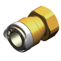 "Quick Connect Adaptor 15mm to 1/2"" BSP Female (Brass)"