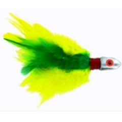 No Alibi Trolling Feather Yellow/Green 4oz