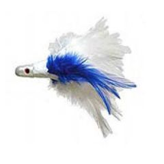 No-Alibi Trolling Feather White/Blue 1oz