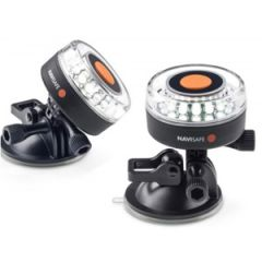 LED Navi Light 360 Degree Rescue Edition Portable Flashing White w/Mount