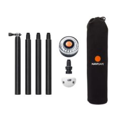 Navisafe Pole & Light Kit, w/360∗ White Light, 4-Piece Ple, Vertical Mount & Bag