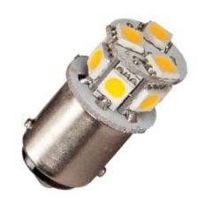 Bulb Led Ba15D Dubbel 10-35Vdc 1/10w Warm White 19x33mm
