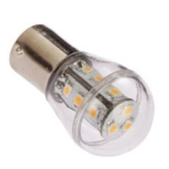 Bulb Led Ba15D Dubbel 10-35Vdc 1.6/15w Warm White 25x48mm