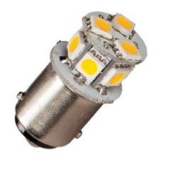 Bulb Led Ba15S Enkel 10-35Vdc 1/10w Warm White 19x33mm