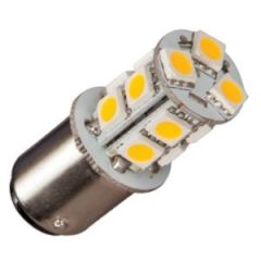 Bulb Led Ba15S Enkel 10-35Vdc 2W/20w Warm White 19x43mm