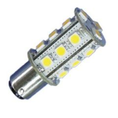 Bulb Led Ba15D Dubbel 10-35Vdc 2.6/25w Warm White 23x55mm