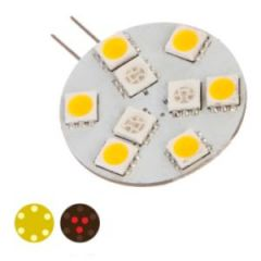 Bulb LED G4 Side Pin White/Red 10-30VDC