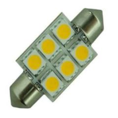 Bulb Led Festoon 37mm 10-35Vdc 1.2w/10w Warm White