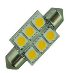 Bulb Led Festoon 42mm 10-30Vdc 1.2w/10w Warm White