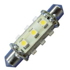 Bulb Led Festoon 42mm 10-30Vdc 1.2w/10w Cool White