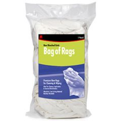 Cloth Wipes New White Bag 10 lb