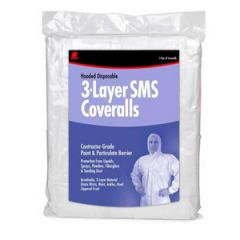 3-Layer, Breathable XXL Coverall w/Hood