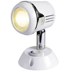 LED Reading Light Hi Power Chromed Brass w/White Finish 12/24v