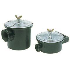 "Water Strainer Utility Plastic w/Nylon Filter Basket 1 1/2"""