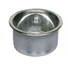 Round Stainless Steel Sink, 260mm x 180mm Deep
