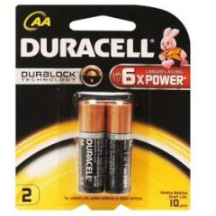 Alkaline Coppertop Batteries AA-Cell 2/pk