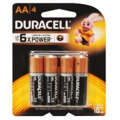 Alkaline Coppertop Batteries AA-Cell 4/pk