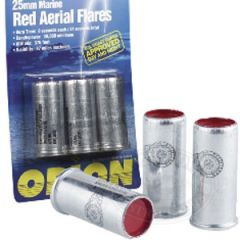Red Aerial Flares High Performance 25 Gauge