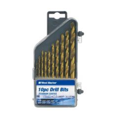 10-Piece Drill Bit Set w/Case