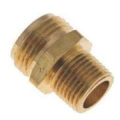 Hose Adapter Brass MHT x Double MPT 1/2""
