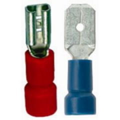 Spade Connector Vinyl Partially Insulated Male 22-18 AWG