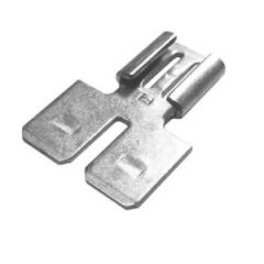 Spade Adapter Tinned 2 Male To 1 Female