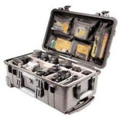"""Carry On Case w/Wheels & Foam Handle Black 22"""" x 13.81"""" x 9"""""""