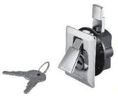 Flush Lock & Latch w/2 Keys Chrome Plated Zinc