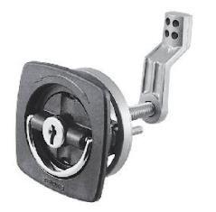 Flush Lock w/2 Keys Chrome Plated Zinc