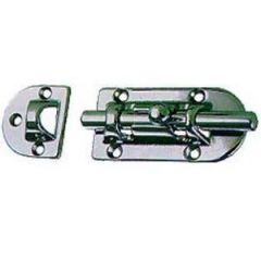 Barrel Bolt Chrome Plated Brass 4""