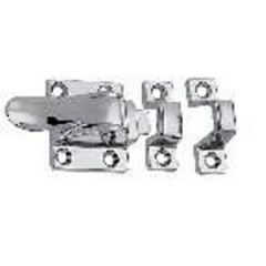 Cupboard Catch w/Box Strike Chrome Plated Zinc