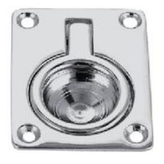 Flush Pull Ring Chrome Plated Bronze