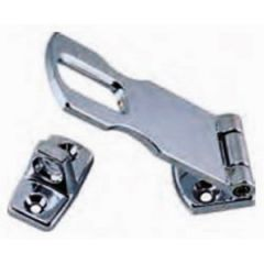 Swivel Eye Hasp & Staple Chrome Plated Zinc 3""