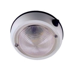 Dome Light Ivory Exterior Surface Mount 4""