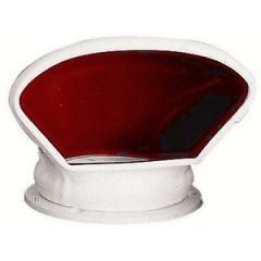 Cowl Vent w/Deck Plate & Watertight Sealing Cover PVC Red 80 mm