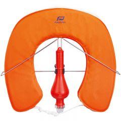Horseshoe Buoy w/ Fixed SOLAS Light & Stainless Steel Bracket Orange