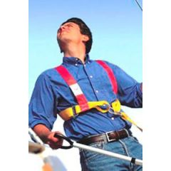 Adjustable Safety Harness w/Single Tether & 2 Snap Hook Adult