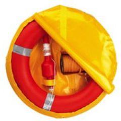 Lifebuoy Ring w/Floating Light & 30m Line In Yellow Storage Bag